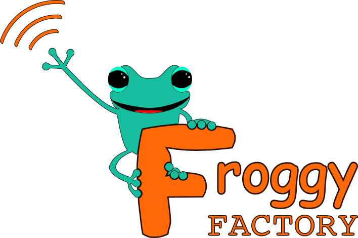 Froggy factory logo. Factories clipart bad environment