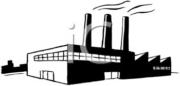 Factory clipart black and white. Station