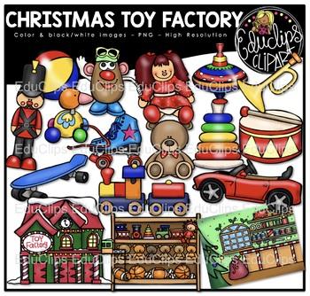 Factories clipart cartoon toy. Christmas factory clip art