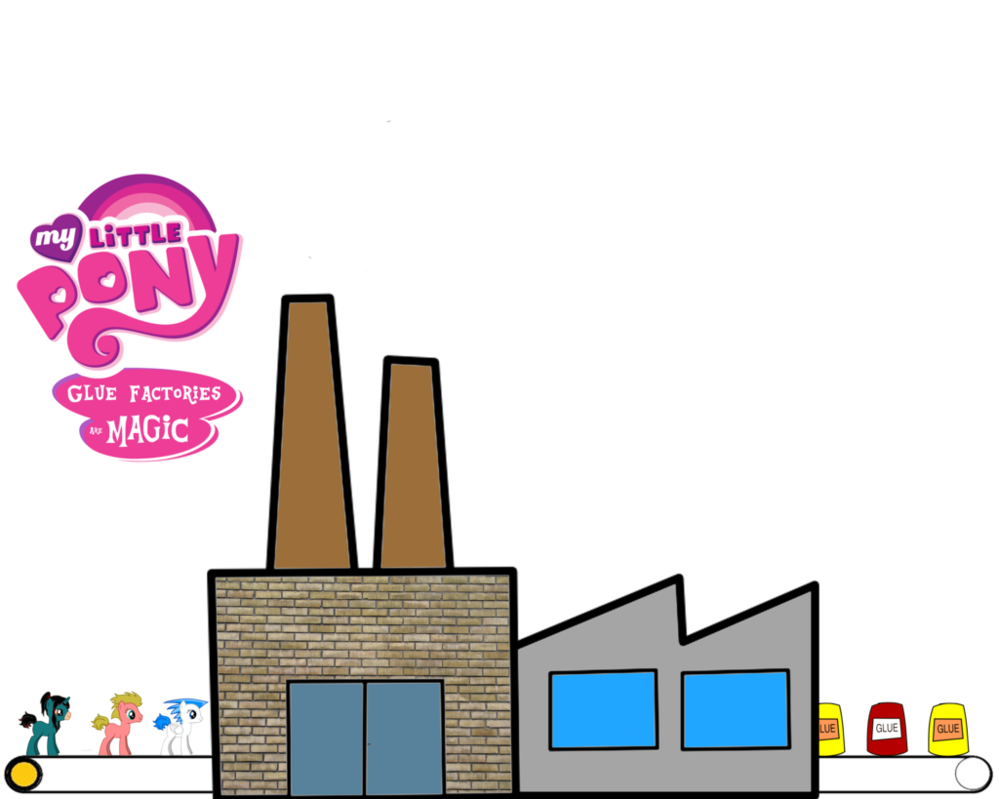 My little pony glue. Factory clipart clean factory