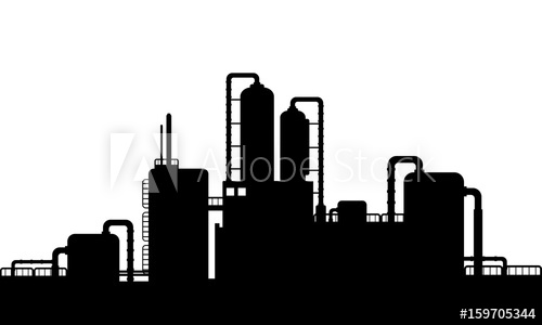 Of industries silhouette buy. Factories clipart chemical factory