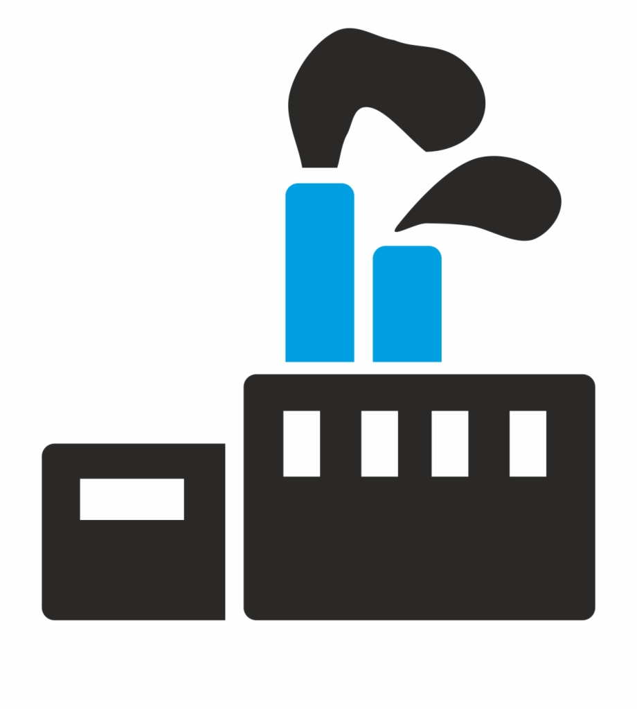 Factories clipart chemical factory. Industry plant symbol free