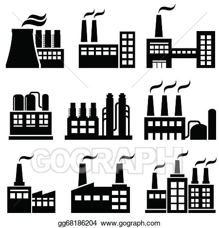 Clip art vector industrial. Factories clipart chemical factory
