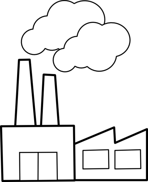 Free factory black and. Factories clipart clip art