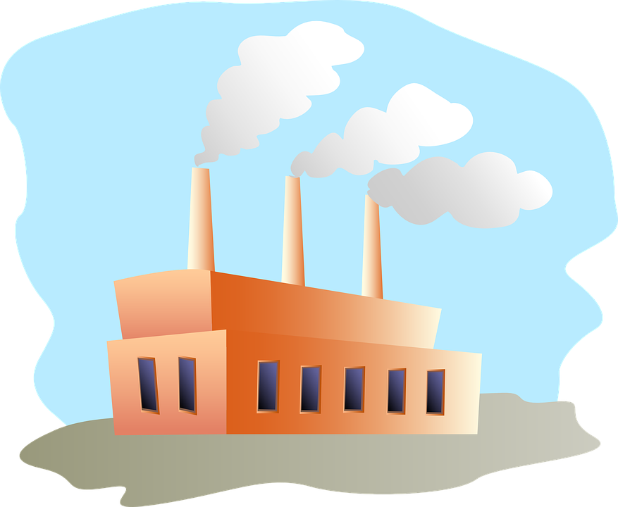 Factory clipart clothing factory. Smoke free on dumielauxepices