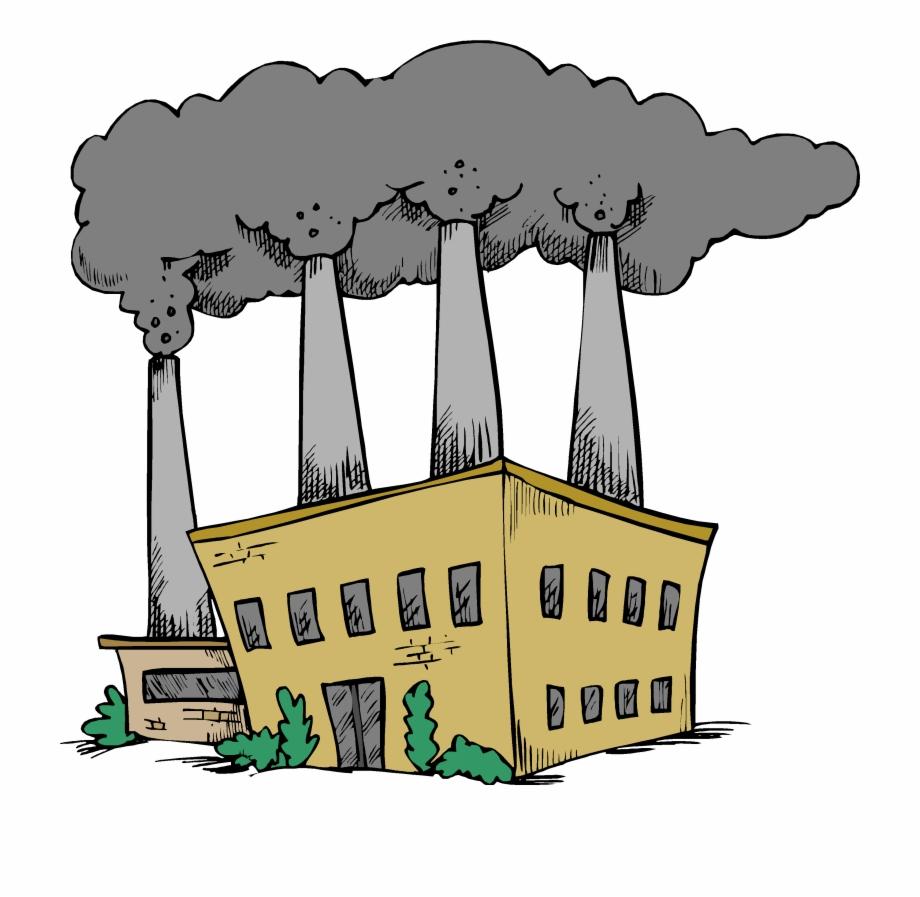 Coal burning fuels cartoon. Factory clipart fossil fuel