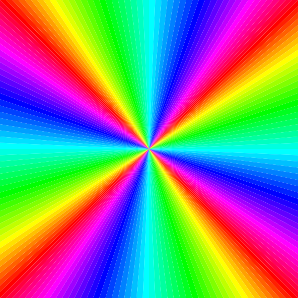 Fork clipart colored. Rainbow color square clip