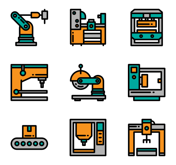 Factory clipart factory machine.  machinery icon packs