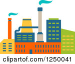 Of a panda free. Factory clipart colorful