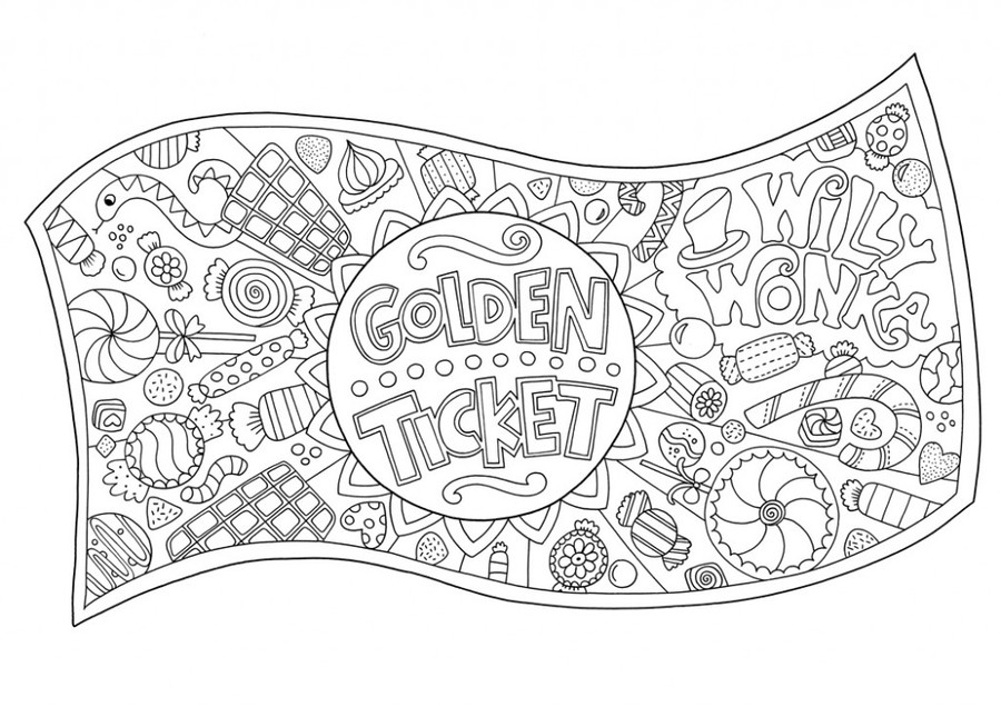 Download willy wonka pages. Factories clipart coloring page
