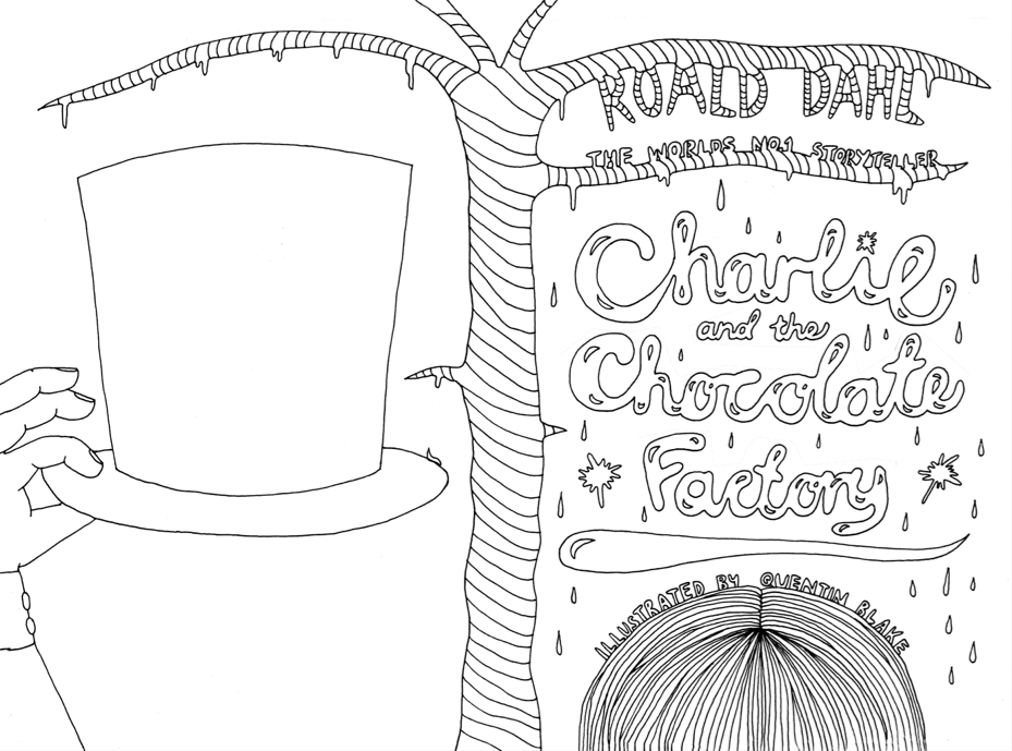 Factories clipart coloring page. Charlie and the chocolate