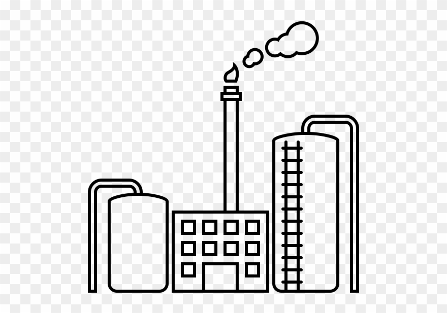 Oil refinery rubber stamp. Factories clipart drawing