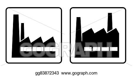 Factories clipart drawing. Industry of factory gg