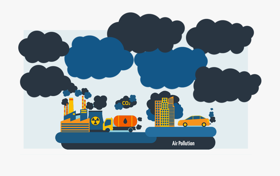 Factory air quality png. Factories clipart environmental pollution