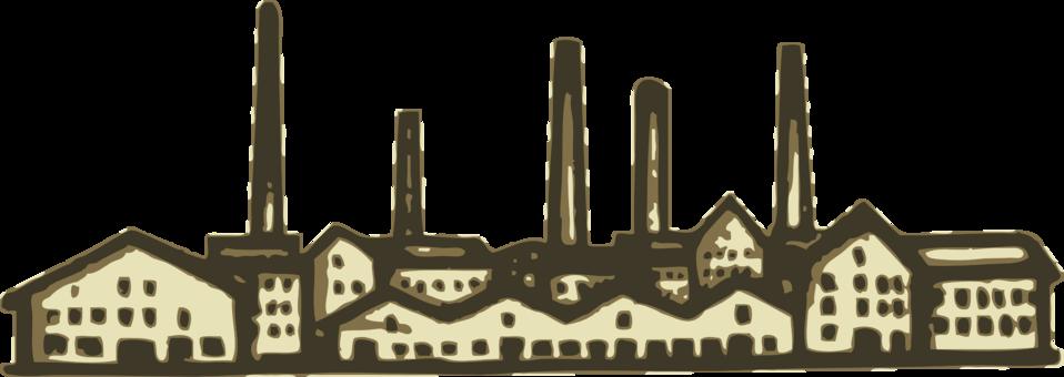 Factory clipart model. Public domain clip art