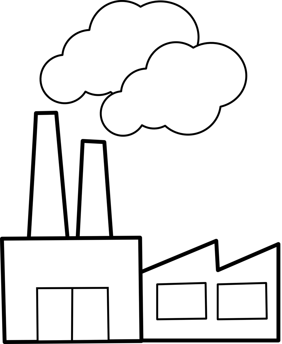 Public domain clip art. Factory clipart polluted