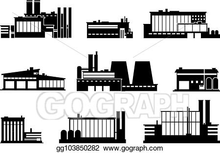 Vector stock manufacturing plant. Factory clipart factory warehouse