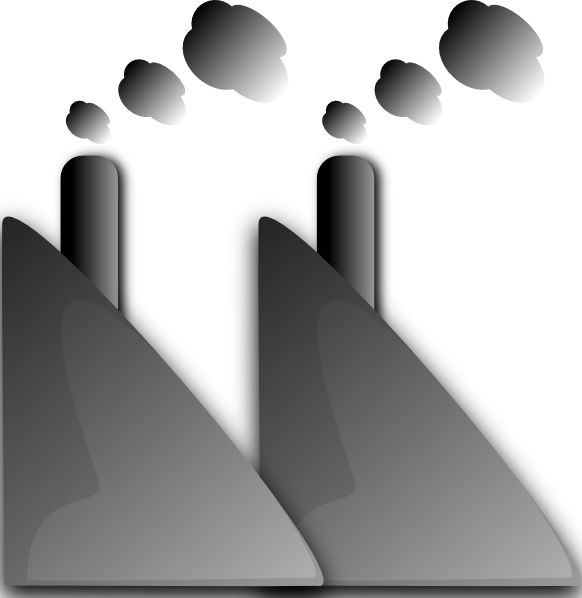 Factories clipart factory smoke. Industry smog clip art
