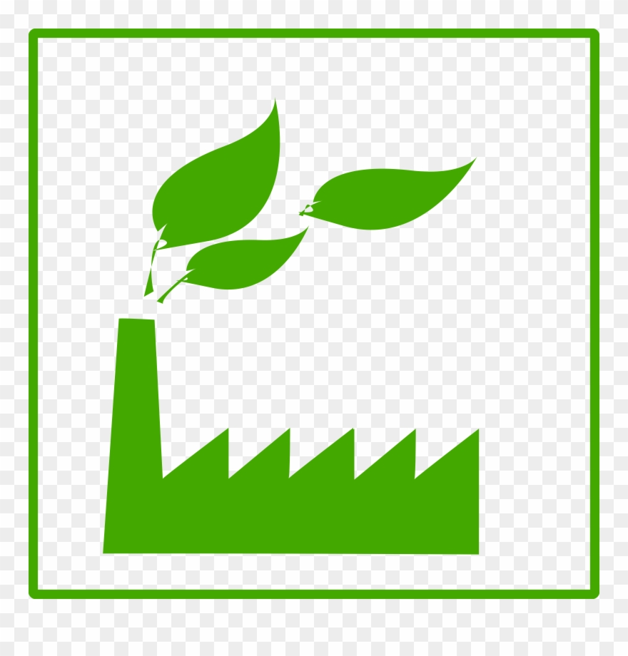 Eco free images icon. Factories clipart green factory