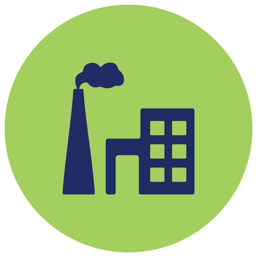 Greenhouse gas free on. Factory clipart carbon emission