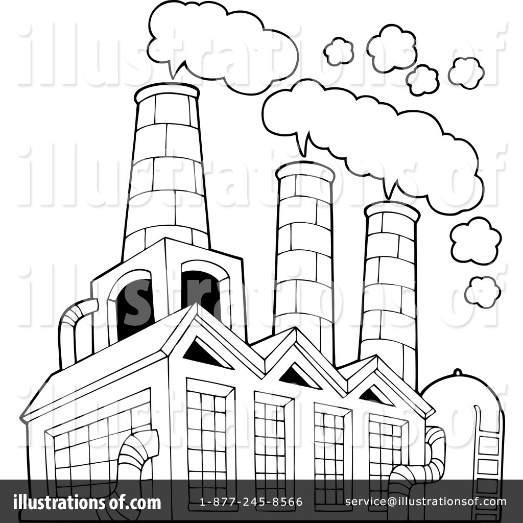 Factory by visekart . Factories clipart illustration