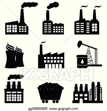 Factories clipart illustration. Vector stock factory nuclear