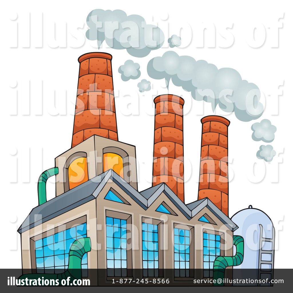 Factories clipart illustration. Factory by visekart