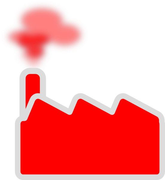 Red factory clip art. Factories clipart industrial area