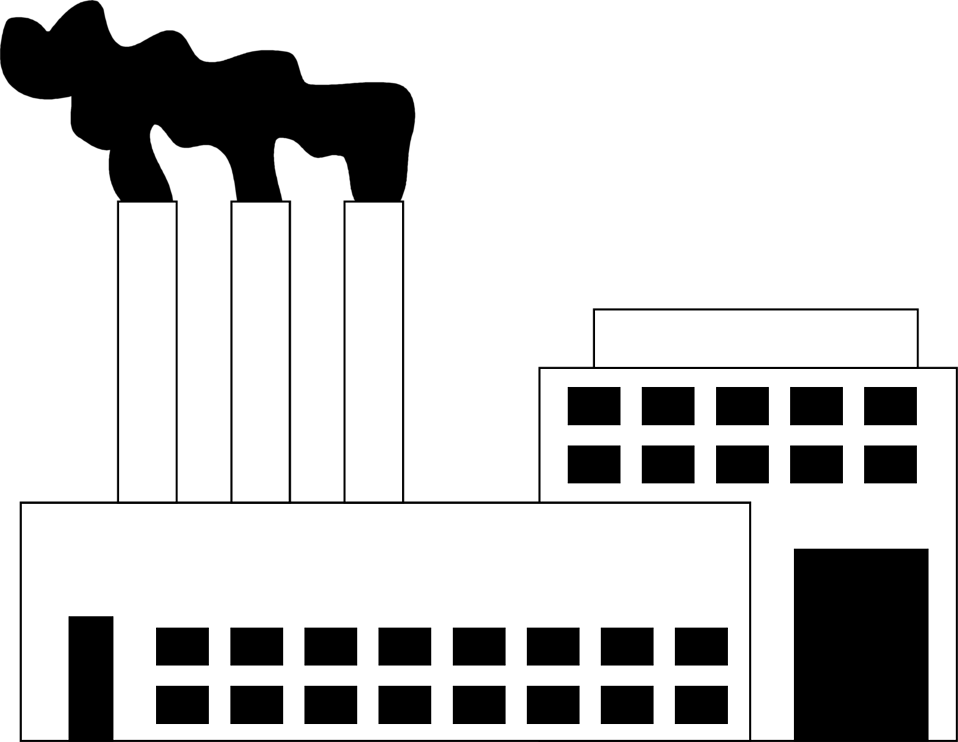 collection of factory. Factories clipart industrial area