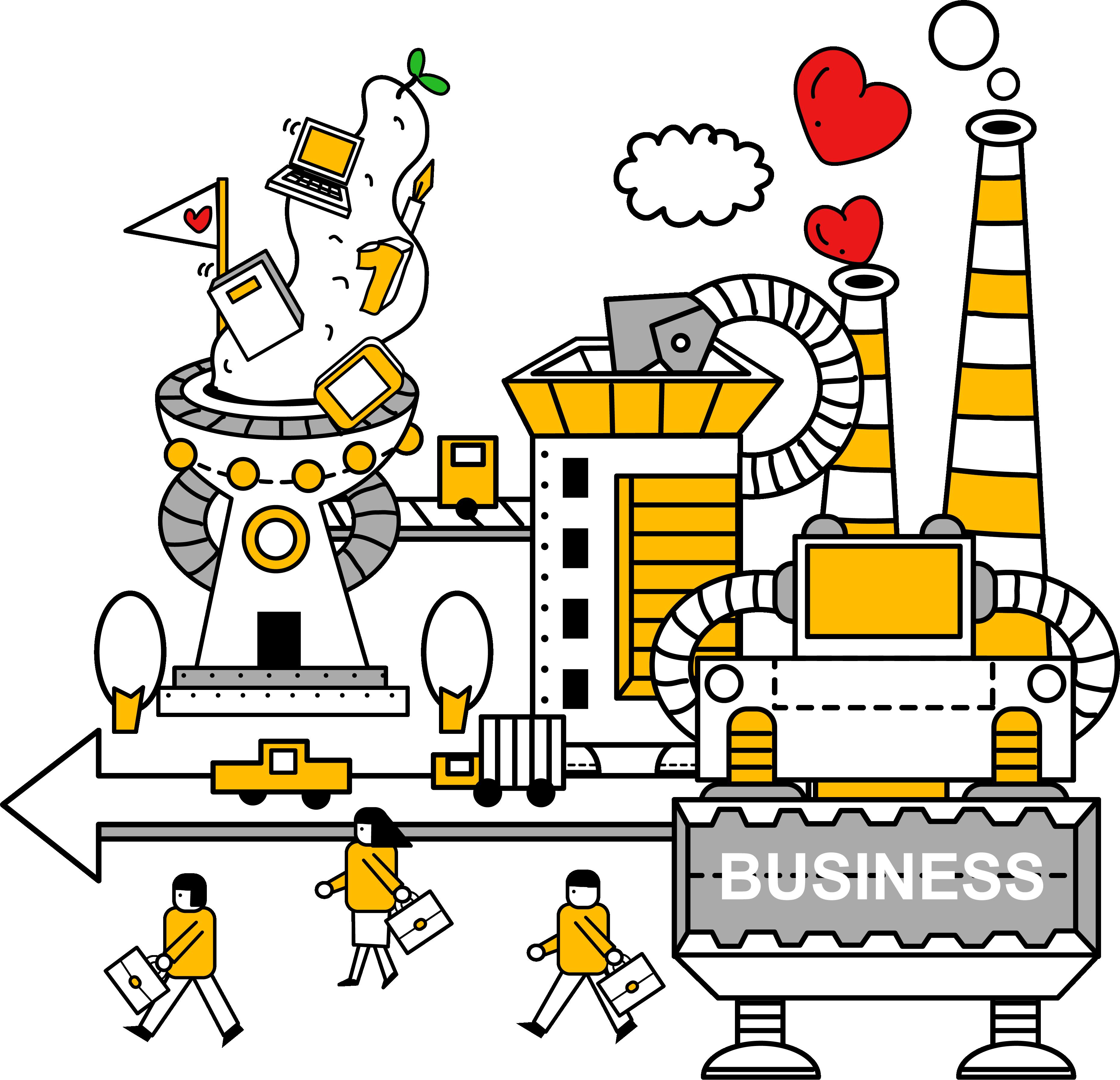 Industry factory machine vector. Factories clipart industrial area