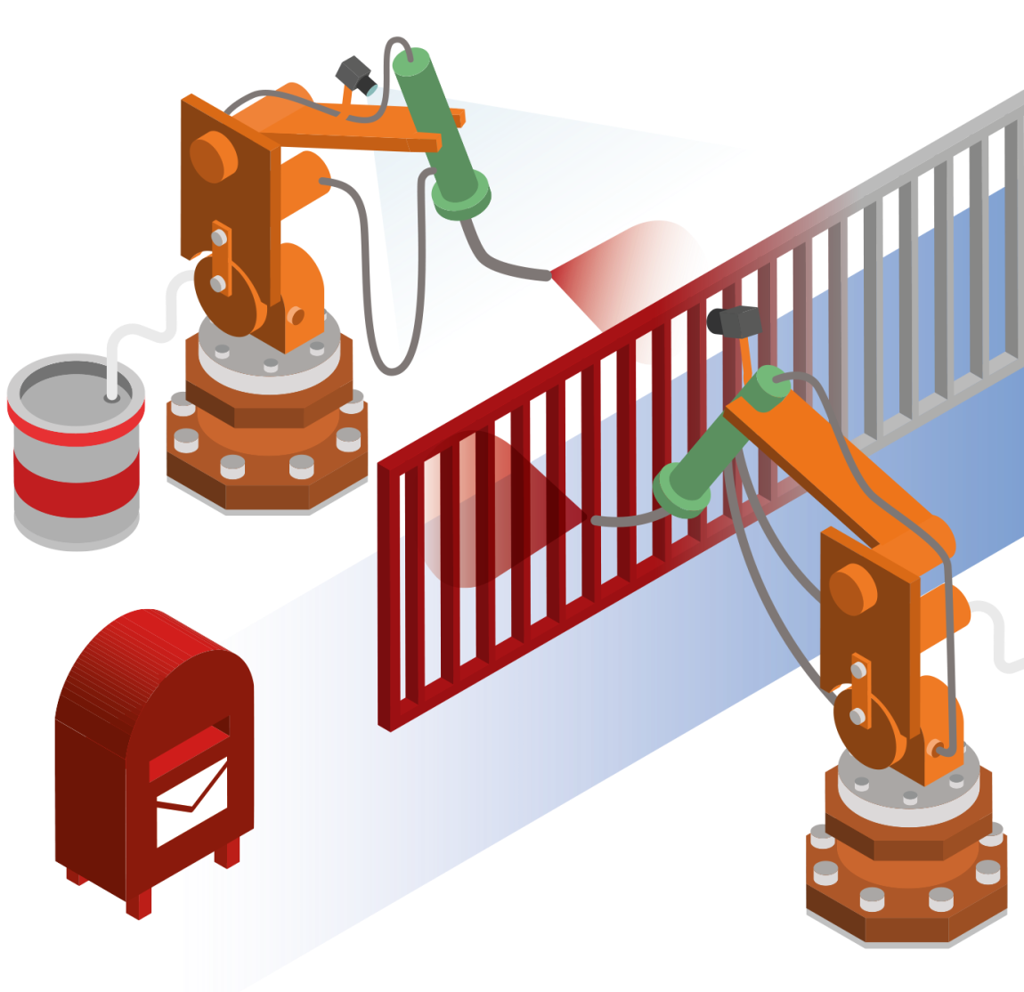 Factory clipart industrial product. Image processing in industry