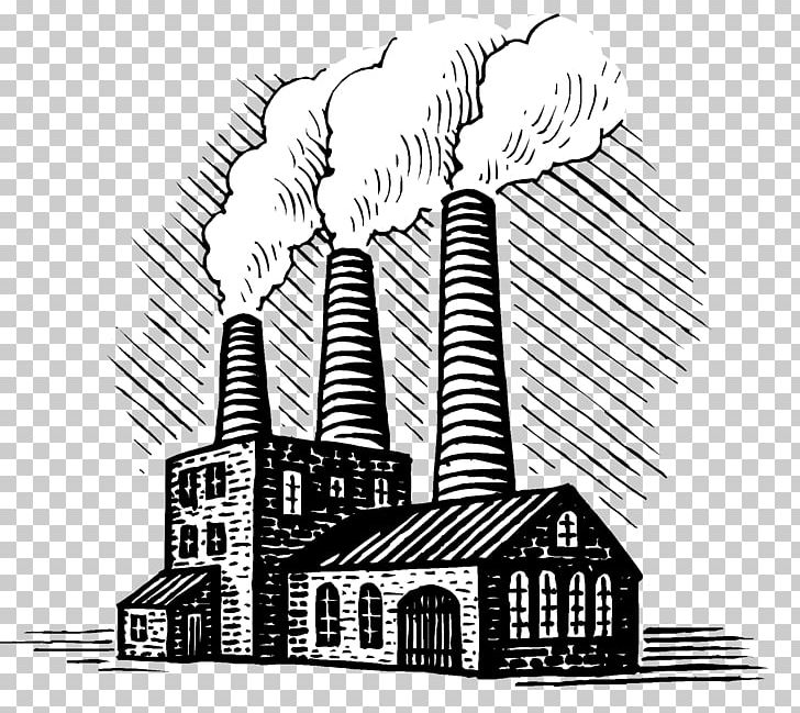 Factory drawing building png. Industry clipart industrial revolution