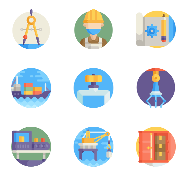 Factories clipart industry profile. Factory icons free vector