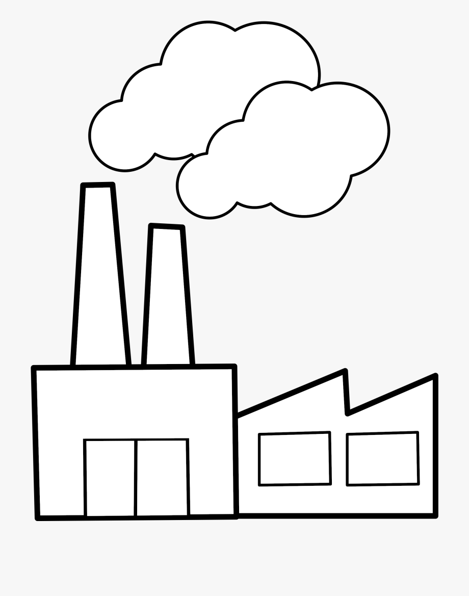 Download free . Factory clipart black and white