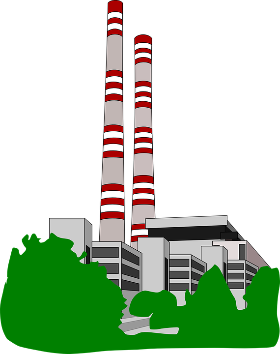 Factory clipart factory fumes. Clip art of manufacturing