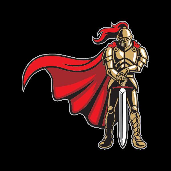 Printed vinyl knight stickers. Warrior clipart guard roman