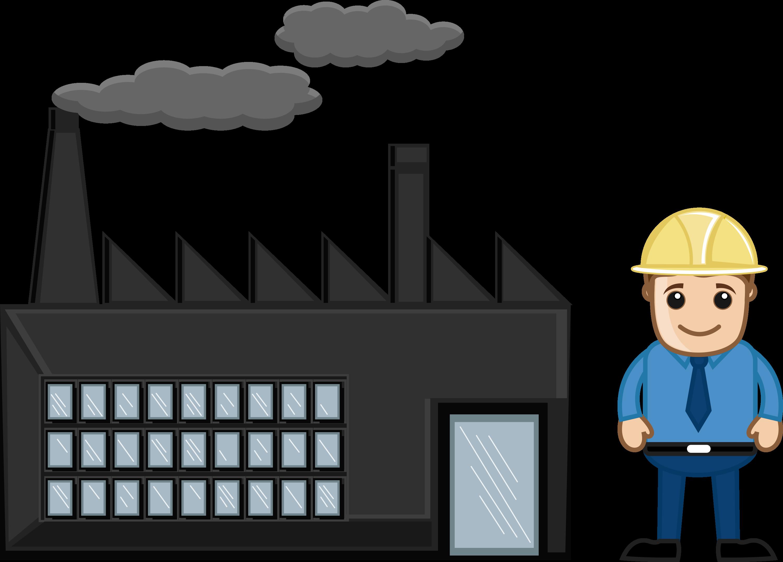Building som info. Factories clipart modern factory