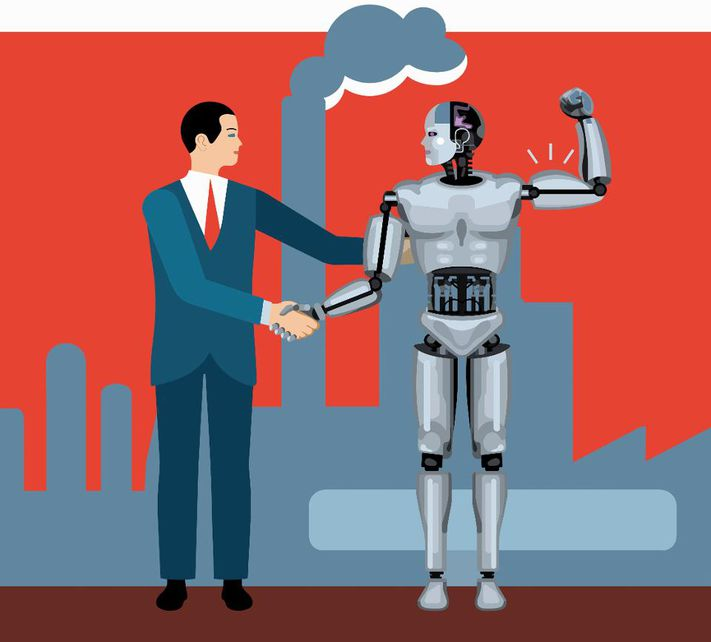 Will a robot take. Factories clipart modern factory