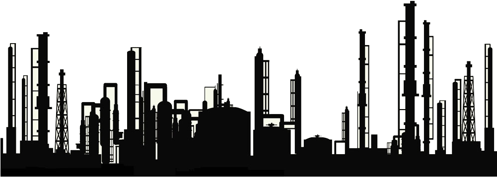 Pipe silhouette free transparent. Factory clipart oil refinery