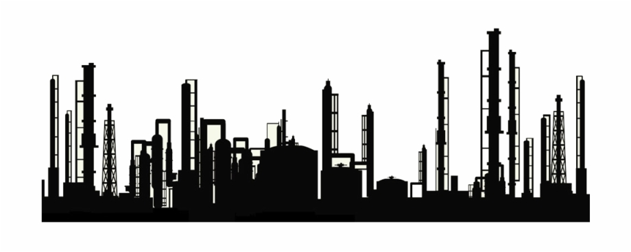 Factory clipart oil refinery. Pipe silhouette free transparent