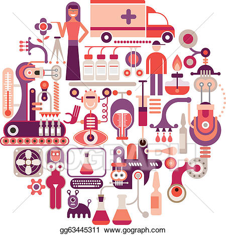 Vector factory illustration . Factories clipart pharmaceutical industry