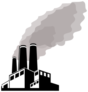 Smog weather pollution png. Factory clipart public domain