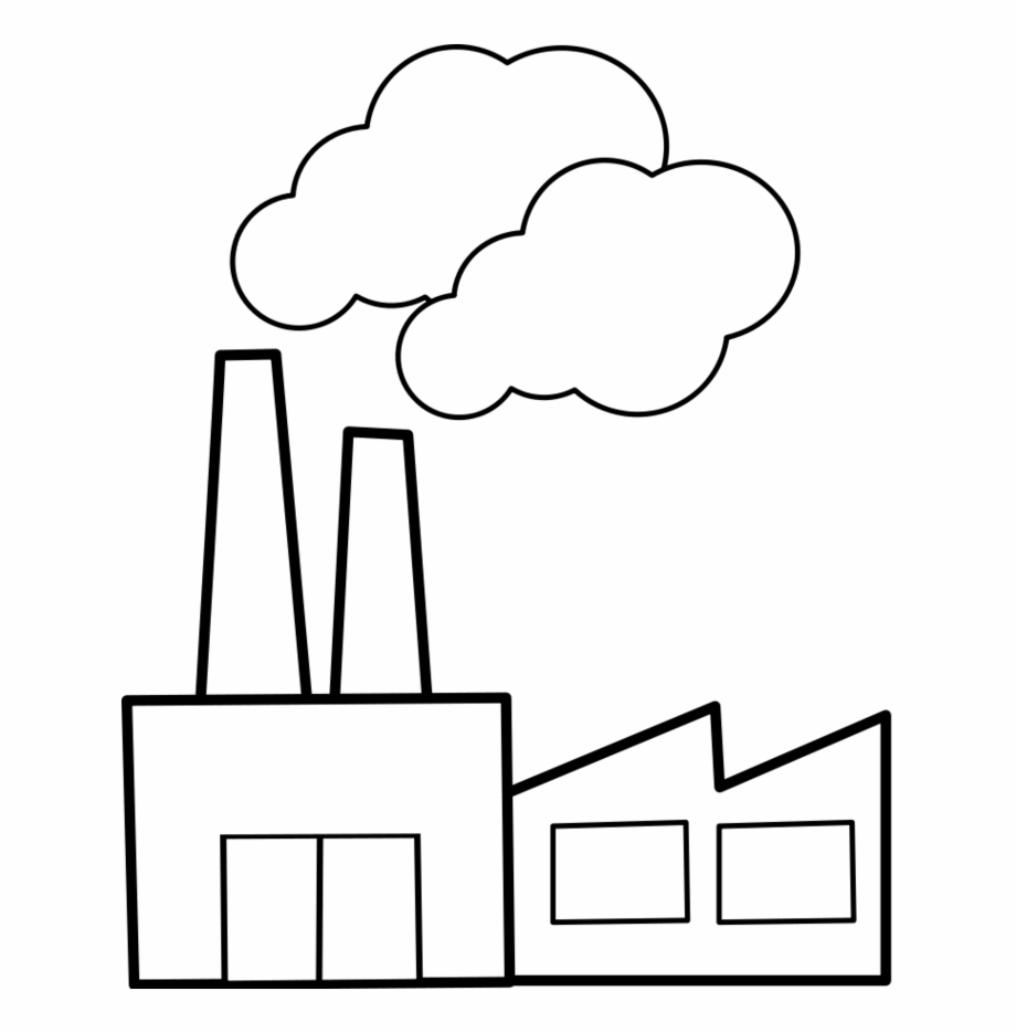 Factory clipart black and white. Download for free png