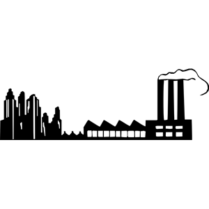 Factories clipart skyline. Factory cliparts of free