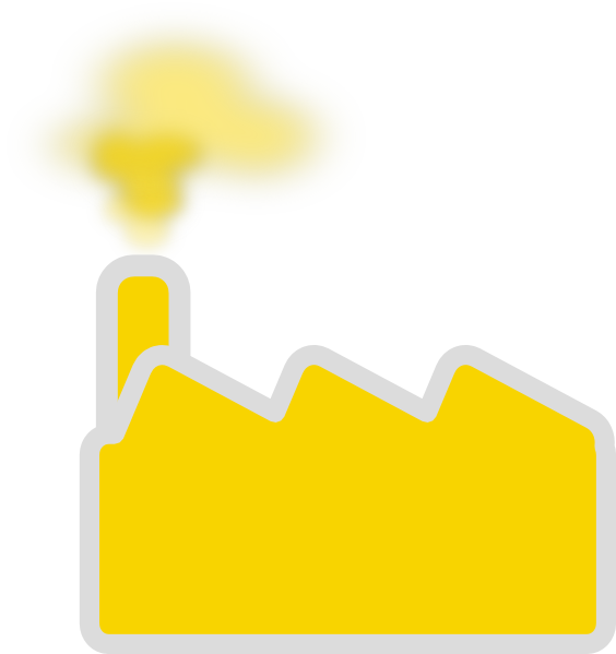 Yellow clip art at. Factory clipart factory inspection