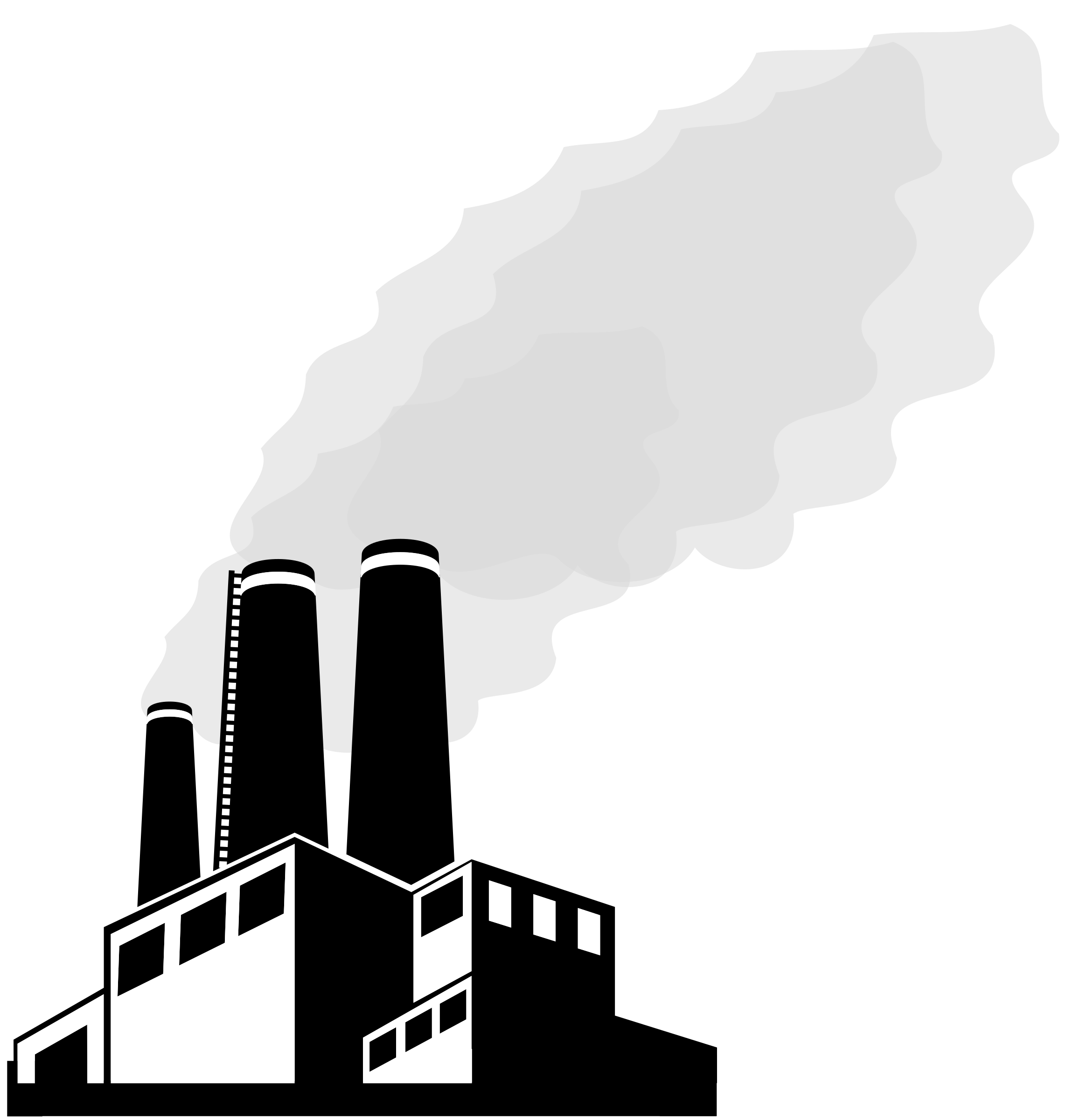 Factory clipart outline. Smog big image png