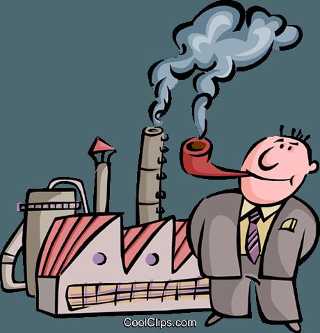 Air pollution cartoon free. Factory clipart smoke belching