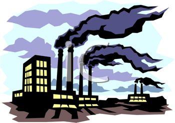 Air pollution cartoon free. Factories clipart smoking