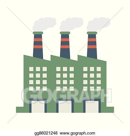 Eps vector factory building. Factories clipart smoking