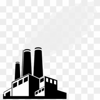 Factories clipart smoking. Factory building laborer smoke